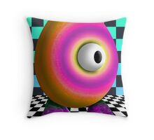 Saturated Egg Man on the Chess Board Throw Pillow