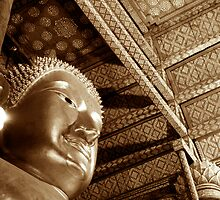 Black & White Budda by Dan Sweeney