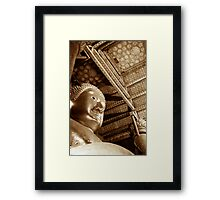 Black & White Budda Framed Print
