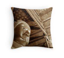 Black & White Budda Throw Pillow
