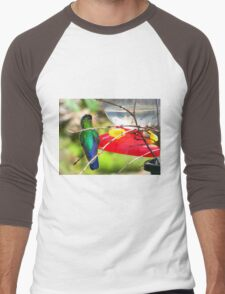 Sneaking Up On An Irazu Hummingbird Men's Baseball ¾ T-Shirt