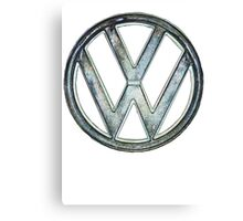 VW Logo coloured Canvas Print