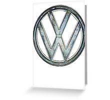 VW Logo coloured Greeting Card