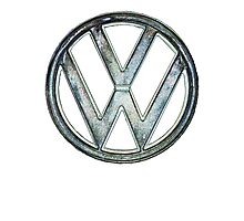 VW Logo coloured Photographic Print