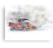 Stuck in Snow Canvas Print