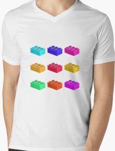 Warhol Toy Bricks Mens V-Neck T-Shirt