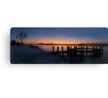Friggid Lake Canvas Print