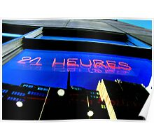 24 hrs Window Poster