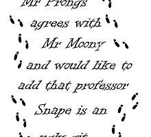 Marauders Map Mr Prongs by a7corpas