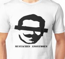 Mustaches Anonymous Unisex T-Shirt