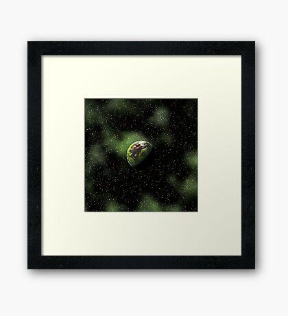 Green Cosmos Framed Print