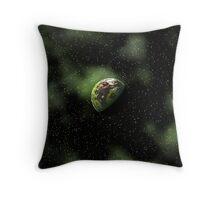 Green Cosmos Throw Pillow