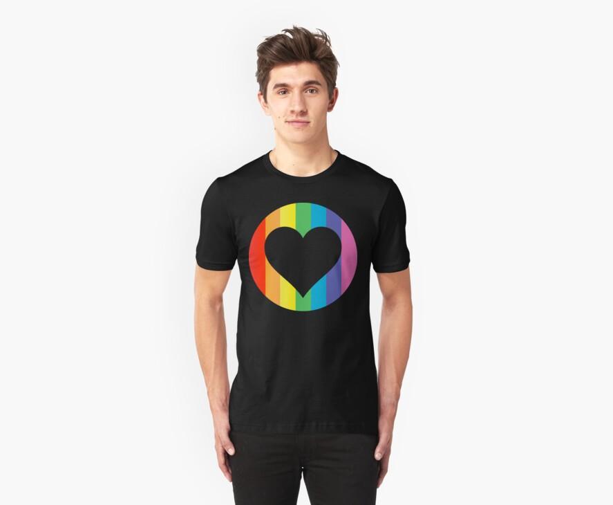 rainbow hearts by chromatosis