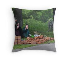 Enjoying the Day -Revisited Throw Pillow