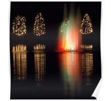 christmas fountain Poster