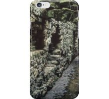 Roofed area which was sewer tunnel beside dormitory Ruins of abbey Rievaulx North Yorkshire England 19840602 0072 iPhone Case/Skin