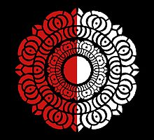 Red and White Lotus Logo by AvatarSkyBison