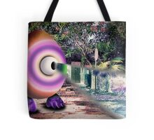 Saturated Egg Man with a Negative View Tote Bag