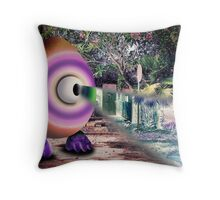 Saturated Egg Man with a Negative View Throw Pillow