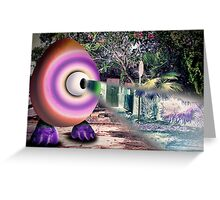 Saturated Egg Man with a Negative View Greeting Card