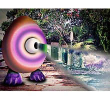 Saturated Egg Man with a Negative View Photographic Print