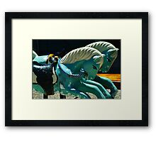 Riding Ponies Framed Print