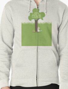 Easter bunny Easter eggs hiding behind tree T-Shirt