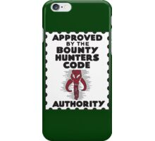 Bounty Hunters Code Authority iPhone Case/Skin