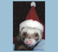 Ferret Santa by Glenna Walker