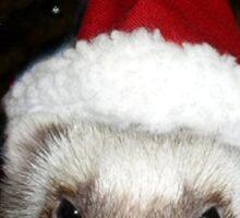 Ferret Santa Sticker