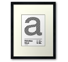 a .... Helvetica Neue (b) Framed Print