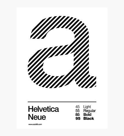 a .... Helvetica Neue (b) Photographic Print