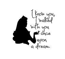 Disney Princesses: Aurora (The Sleeping Beauty) *Black version* Photographic Print