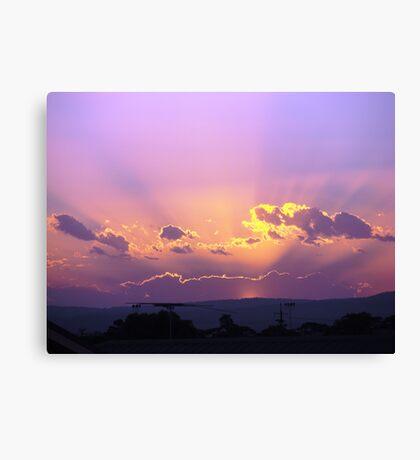 Magical Rays Canvas Print