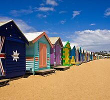 Brighton Beach bathing boxes by Vicki Moritz