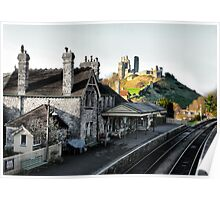 Corfe Castle Station Poster