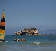 seascapes #188, yachts & rocks by stickelsimages