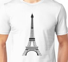 Black Eiffel Tower Unisex T-Shirt