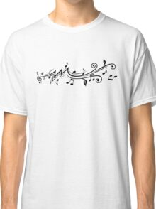 Music design with musical notes Classic T-Shirt