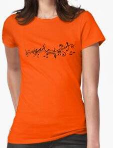 Music design with musical notes Womens Fitted T-Shirt