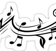 Music design with musical notes Sticker