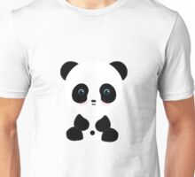 Blushing Panda Bear Unisex T-Shirt