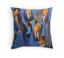 BLUES UPSTAIRS, LONDON Throw Pillow