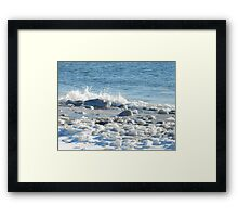 Sea and Ice Framed Print