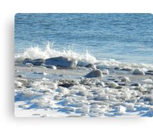 Sea and Ice Canvas Print