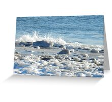 Sea and Ice Greeting Card
