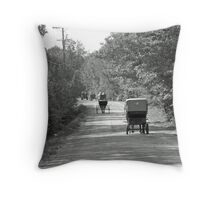Like In The Old Days Throw Pillow