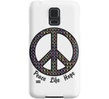 Peace, Life, Hope. Cancer Ribbons Samsung Galaxy Case/Skin