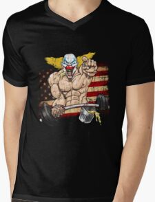 Cross fitness - Puker - USA Mens V-Neck T-Shirt