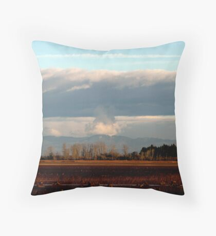 Giant Mushroom in the Sky Throw Pillow